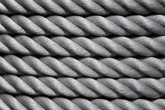 Shipping rope coil texture background. Texture of the coiled shipping rope Stock Photos