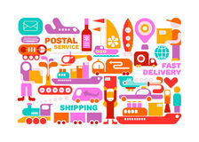 Shipping Service vector illustration Royalty Free Stock Image