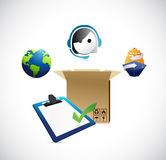Shipping services and logistics. Stock Image