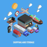Shipping And Storage Isometric Concept Royalty Free Stock Image