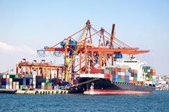 Shipping terminal Royalty Free Stock Images