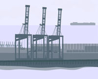 """Shipping Terminal. """"Shipping Terminal"""" is a highly detailed and hand drawn vector in AI-EPS8 format Stock Photography"""