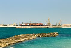 Shipping Terminal, Dubai, United Stock Photo