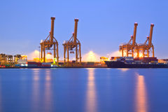 Shipping Terminal port Royalty Free Stock Photos