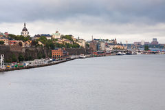 Shipping terminal in Stockholm Stock Photo
