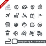 Shipping & Tracking Icons // Basics Series Royalty Free Stock Photo