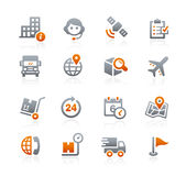Shipping and Tracking Icons -- Graphite Series Royalty Free Stock Photo