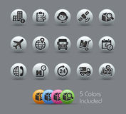 Shipping and Tracking Icons Royalty Free Stock Image
