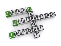 Shipping and trade Royalty Free Stock Image