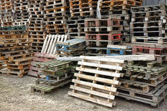 Shipping and Transportation Wood Pallets Warehouse royalty free stock photography