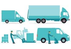 Shipping via trucks Royalty Free Stock Photo