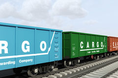 Shipping in wagons Royalty Free Stock Image