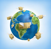 Shipping worldwide Royalty Free Stock Photo