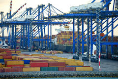 Shipping yard in the bahamas Stock Images