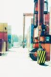 Shipping yard, industrial scene Royalty Free Stock Photo