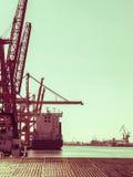 Shipping yard, industrial scene Stock Photo