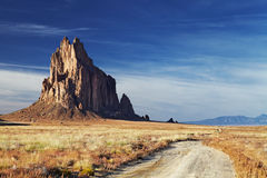 Shiprock,新墨西哥,美国 图库摄影