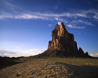 Shiprock. Located in northwest New Mexico royalty free stock photography