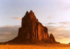 Shiprock in the Early Morning Sun Stock Photo