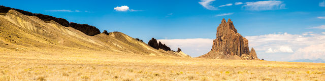 Shiprock formation in New Mexico. Amazing scenes from Ship rock in New Mexico Royalty Free Stock Photography