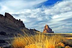 Shiprock iconico, Farmington, New Mexico Fotografie Stock Libere da Diritti