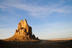 Shiprock, New Mexico. Rock formation of Shiprock, New Mexico Royalty Free Stock Images