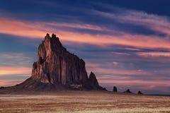 Shiprock, New Mexiko, USA Stockbilder