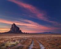 Shiprock, Nouveau Mexique, Etats-Unis image stock