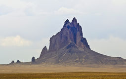 Shiprock, Nowy - Mexico, na Navajo rezerwaci Fotografia Royalty Free