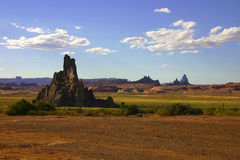 Shiprock summertime royalty free stock photo