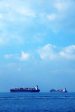 Ships. An image of several big ships on the sea Royalty Free Stock Photography