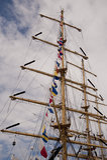 Ships. Scene in kiel port with ships Stock Photos