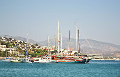 Ships in the Aegean Sea. This photo was taken in Bodrum (Turkey Stock Images
