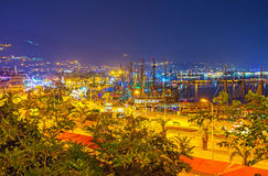 The ships in Alanya port Stock Images