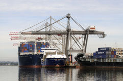 Ships alongside Southampton Docks UK Royalty Free Stock Photos