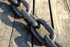 Ships anchor chain. royalty free stock photography