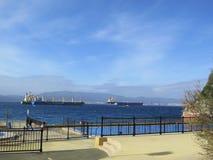 Ships at anchor Stock Photo