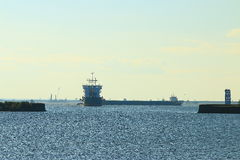 Ships at anchorage Royalty Free Stock Images