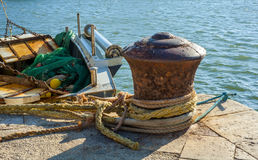 Ships anchored in the harbor Royalty Free Stock Photography