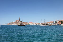 Ships anchored in Rovinj Royalty Free Stock Photography