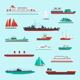 Ships And Boats Set Stock Photo