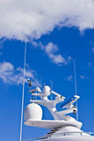 Ships antenna and navigation system Royalty Free Stock Photo