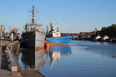 Ships. On the Baltic sea Royalty Free Stock Photography
