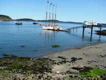 Ships in Bar Harbor  Maine USA. Bar Harbor is a town on Mount Desert Island in Hancock County, Maine, United States Stock Photos