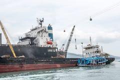 Ships at Bay Port Royalty Free Stock Photo