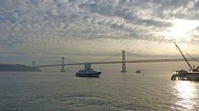 Ships in the Bay of San Francisco Royalty Free Stock Photos