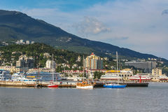 Ships in the bay of Yalta Royalty Free Stock Image