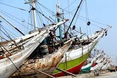 Ships. Berthing at the sunda kelapa port Stock Photography