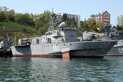 Ships of the Black Sea fleet Stock Image