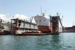 Ships of the Black Sea fleet Royalty Free Stock Photography